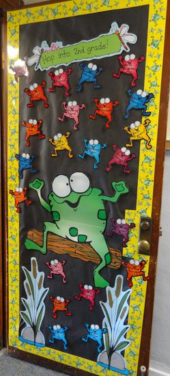 Elementary Back To School From Themed Classroom Door Decoration