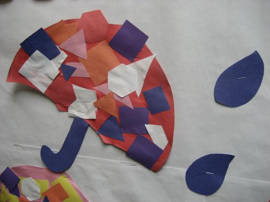 Finished Shape Umbrella Kids Craft