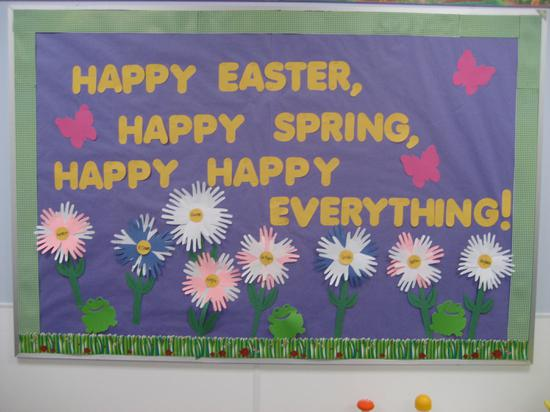 Easter and Spring Bulletin Board Idea