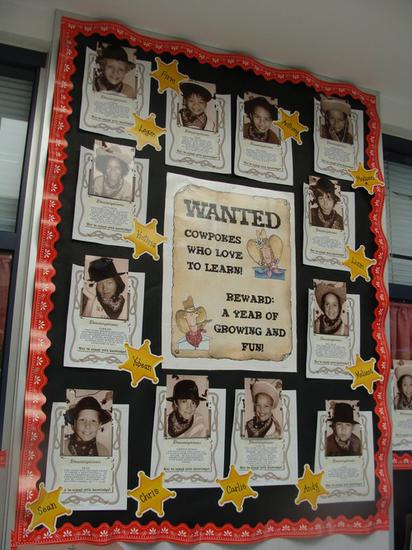 Western Themed Classroom and Back To School Bulletin Board Idea