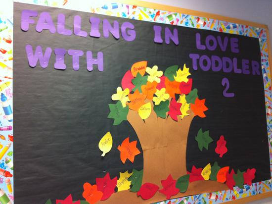 Fall Tree with Leaves Preschool or Kindergarten Bulletin Board