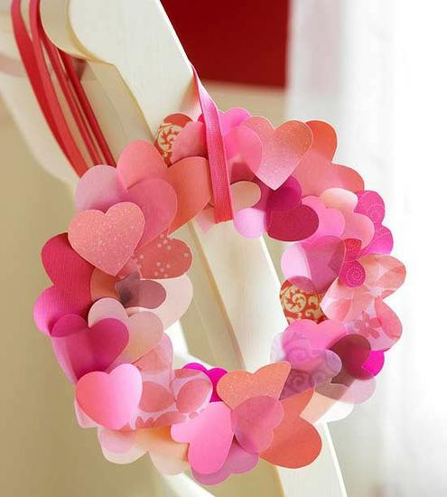 Valentine's Day Wreath and Bulletin Board Idea