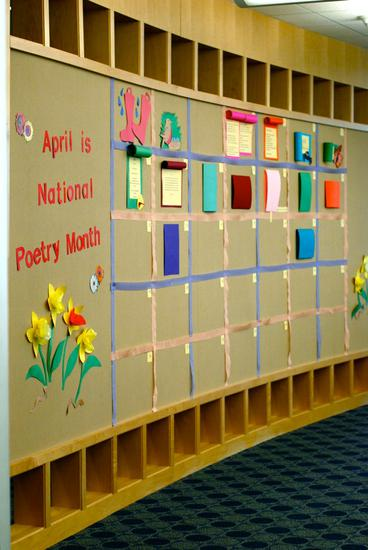 National Poetry Month Bulletin Board Idea