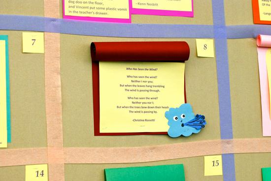 April Poetry Bulletin Board Idea