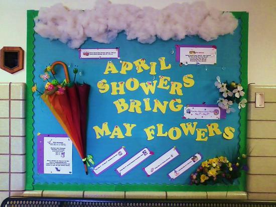 April Showers Spring Bulletin Board Idea Supplyme