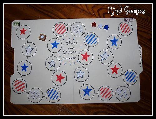 Homemade Fourth of July File Folder Game Preschool Lesson Plan