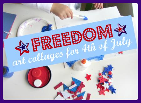 Patriotic Collage Craft for Kids