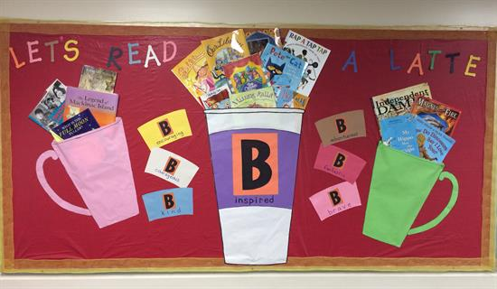 Coffee-Themed Reading Bulletin Board