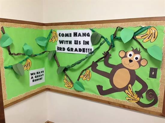 Monkey-Themed Bulletin Board Display