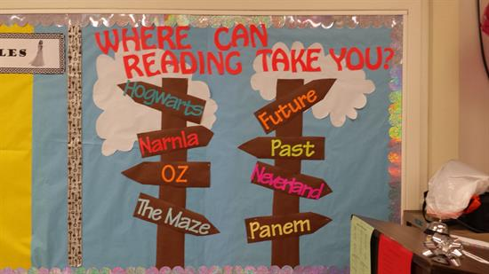 6th Grade Classroom Decorating Ideas ~ Quot where can reading take you bulletin board idea supplyme