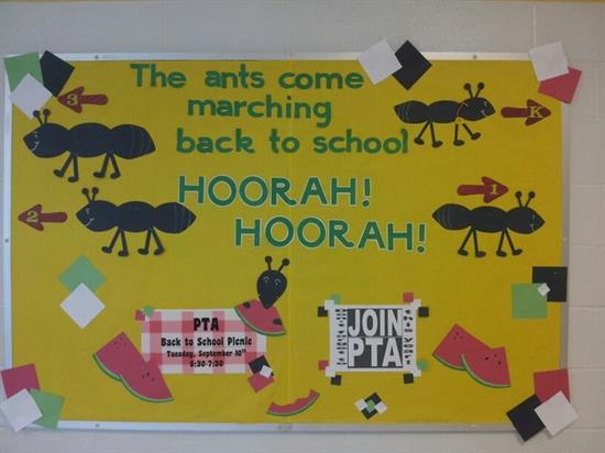 Back to School Picnic-Themed Bulletin Board