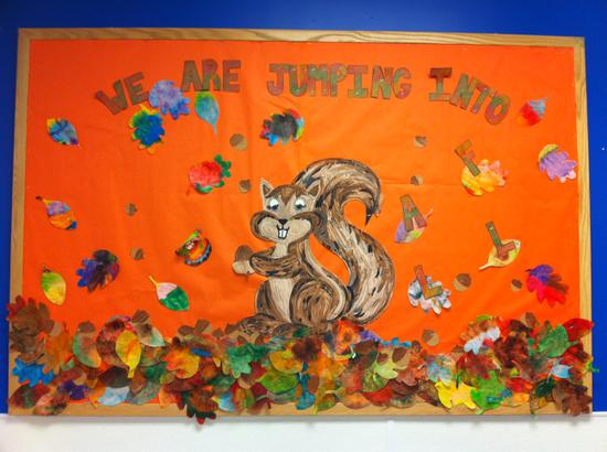 Fall Leaves Preschool Bulletin Board Idea