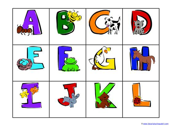 colorful alphabet and pictures