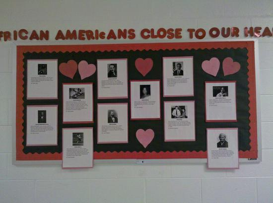 Black History Month and Valentine's Day Bulletin Board Idea