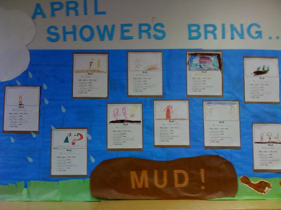 April Showers Bring Mud Spring Bulletin Board Idea Supplyme