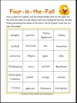 Four-in-a-Row Autumn Inference Game
