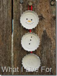 Winter and Christmas Snowman Recycling Craft for Kids