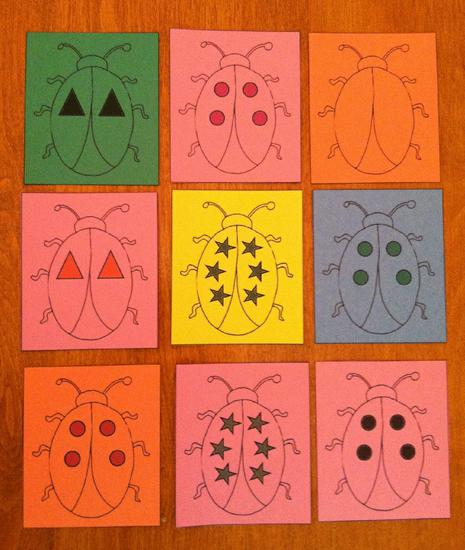 Spring Bug Sorting Cards Preschool Lesson Plan