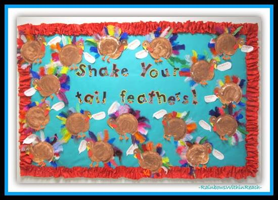 Shake Your Tail Feathers Thanksgiving Bulletin Board Idea Supplyme