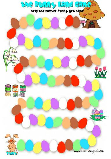 Spring and Easter Game Preschool Printable