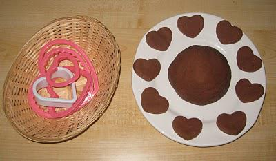 valentine's day chocolate play dough sensory activity