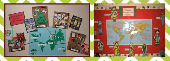 Christmas Around the World Bulletin Board Idea