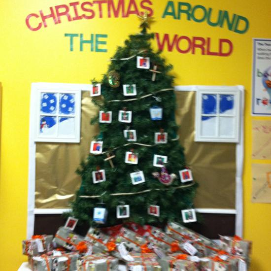 Winter Holiday Bulletin Board Idea - Christmas Around The World! - Christmas Tree Bulletin Board Idea