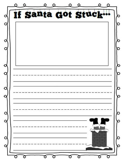 Christmas Creative Writing Prompt Printable for Kindergarten