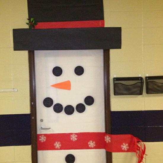 Snowman Winter and Christmas Door Display and Bulletin Board Idea
