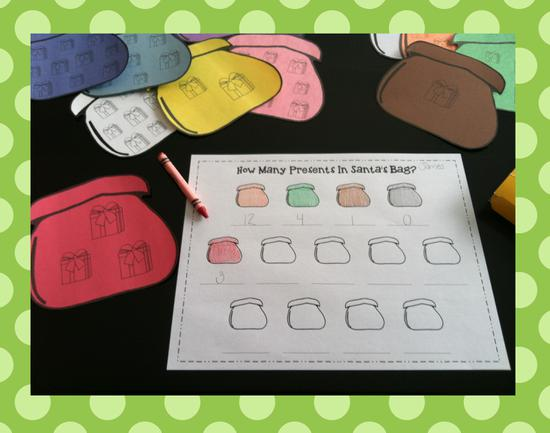 Preschool and Kindergarten Christmas Counting Activity