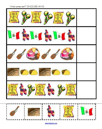 Cinco de Mayo Patterning Preschool Printable