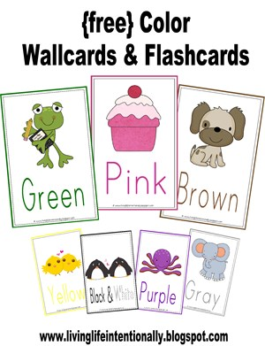 Color Words Preschool Printable