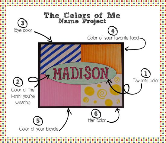 Name Recognition and Colors First Day of School Preschool Lesson Plan