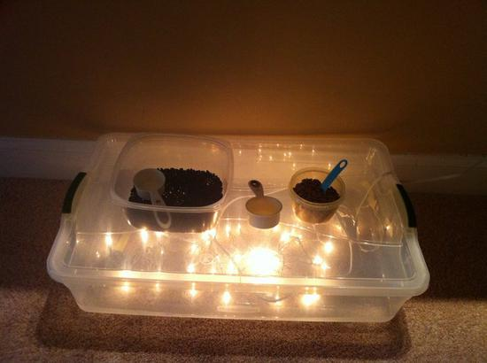 Homemade Light Table Project and Activities for Kids