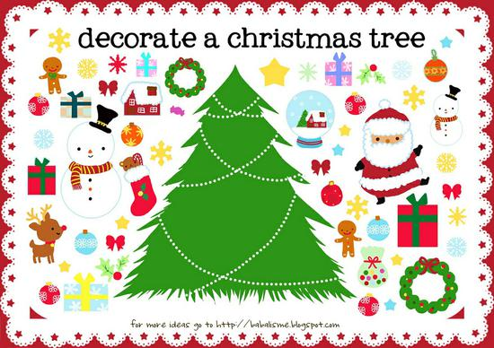 Christmas Fine Motor and Storytelling Preschool Printable