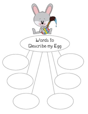 Easter Literacy and Writing Craftivity and Preschool Printable