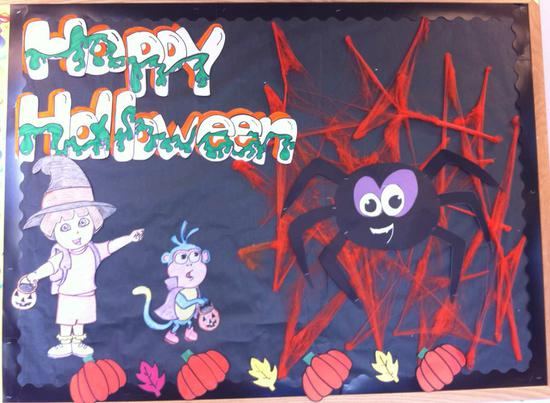 Dora the Explorer Halloween Bulletin Board Idea