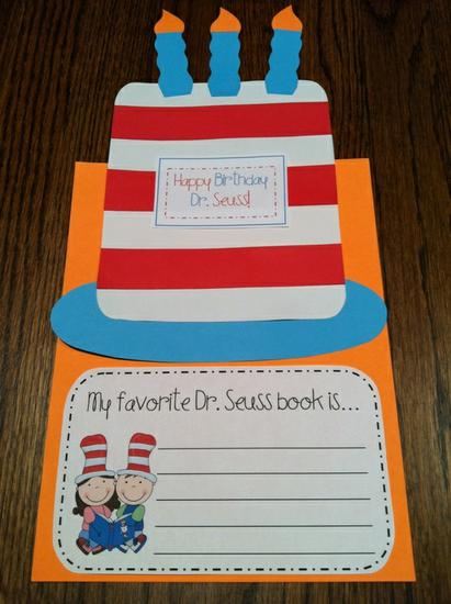 Dr. Seuss Writing Craft for Kids and Preschool Lesson Plan