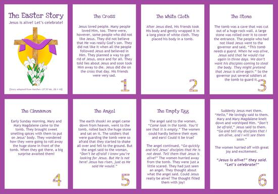 Easter Christian Storytelling Kindergarten Lesson Plan and Kindergarten Printable