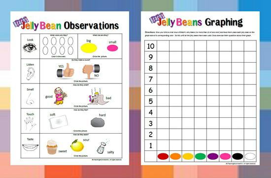 Easter Science and Math Preschool Printable