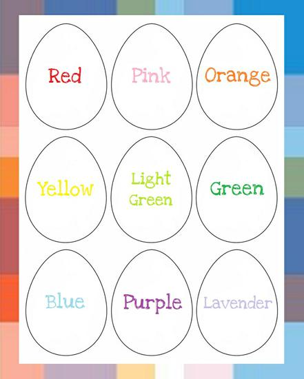 Spring and Easter Literacy and Color Preschool Printable