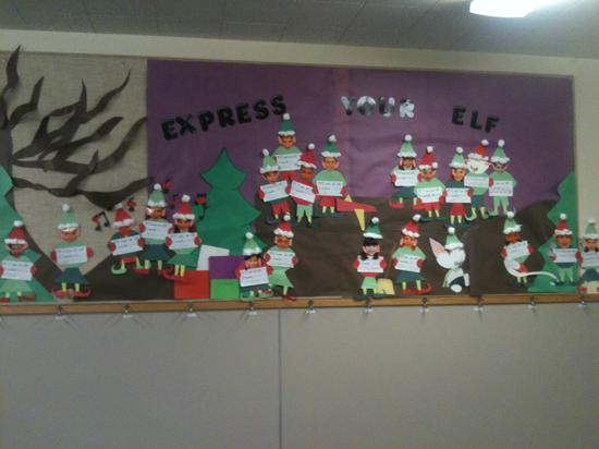 Express Your Elf Christmas Writing Display Supplyme