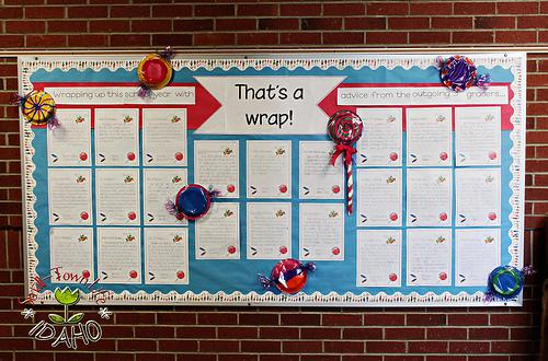 End of the Year Writing Bulletin Board Idea