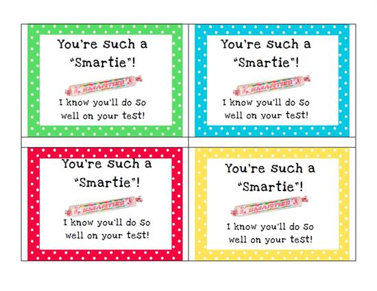 Decisive image for encouraging notes for students during testing printable