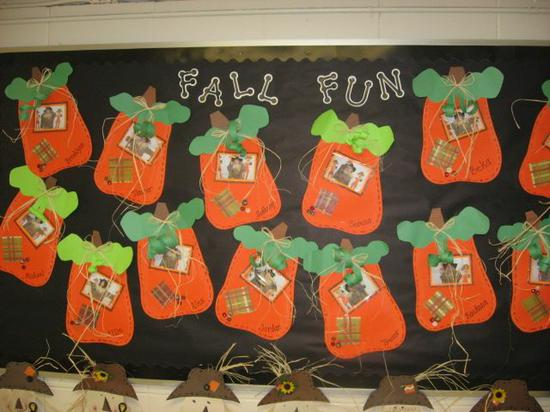 Fall and Halloween Bulletin Board Idea
