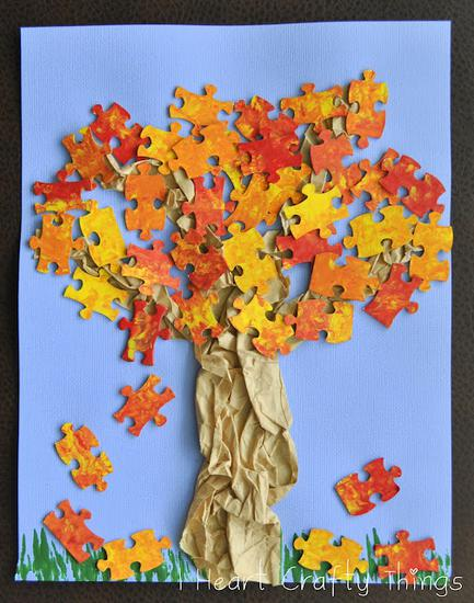 Fall and Autumn Tree Craft for Kids