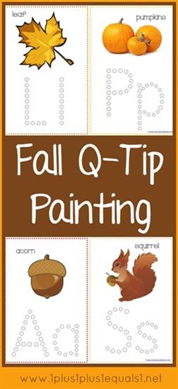 Fall Q-Tip Painting for Letter Recognition