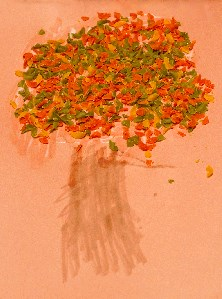 Noodle Autumn Tree Craft for Kids