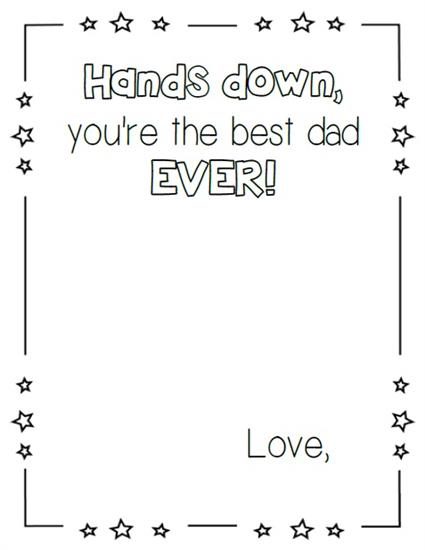 Father's Day Hand Print Craft Printable