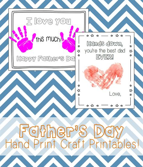 Father's Day Hand Print Craft Printables
